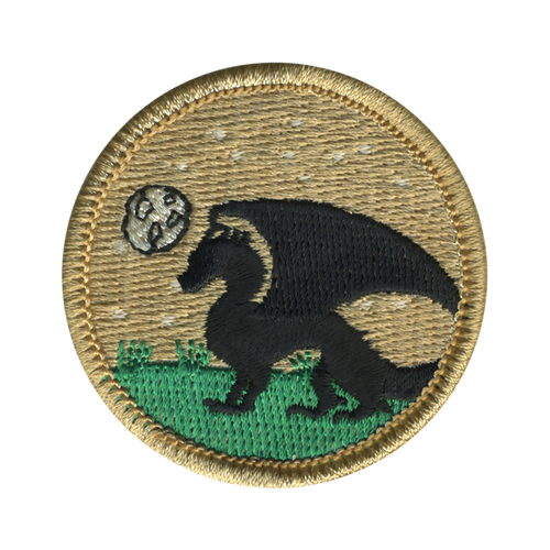 Night Dragon Patrol Patch - embroidered 2 inch round