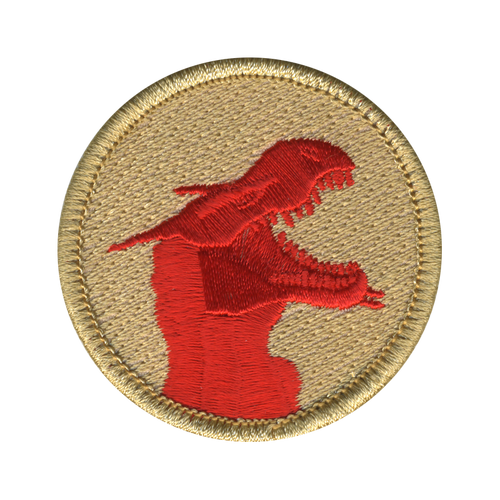 Red Ghost Dragon Patrol Patch - embroidered 2 inch round