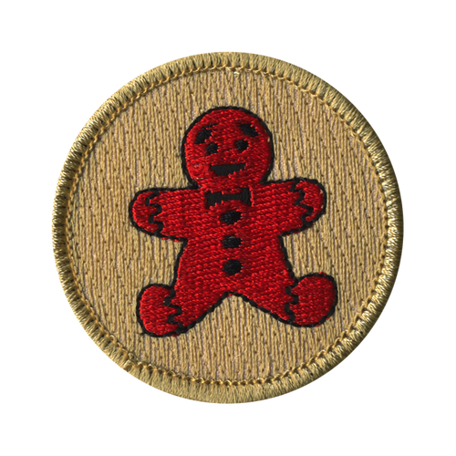 Gingerbread Patrol Patch - embroidered 2 inch round