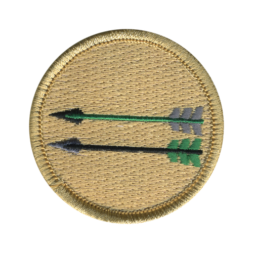 Double Arrows Patrol Patch - embroidered 2 inch round