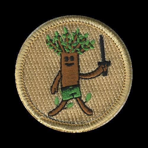 Wooden Warrior Patrol Patch - embroidered 2 inch round