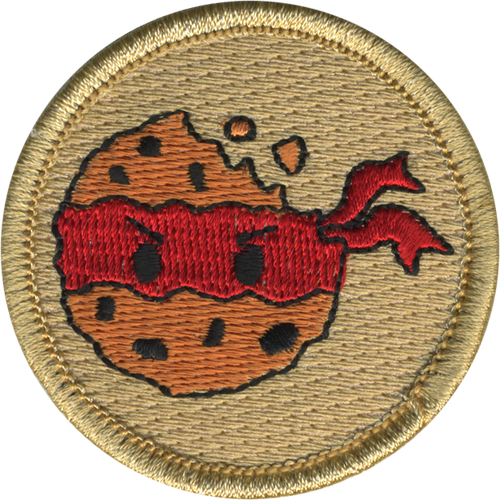 Cookie Ninja Patrol Patch - embroidered 2 inch round