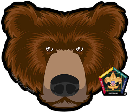 Wood Badge Sticker of Wood Badge Bear with Wood Badge Logo