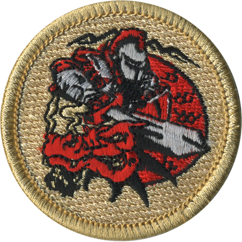 Dragon Slayer Patrol Patch - embroidered 2 inch round