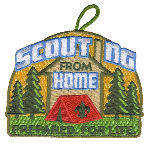 BSA Patch Scouting From Home with BSA FLeur De Lis