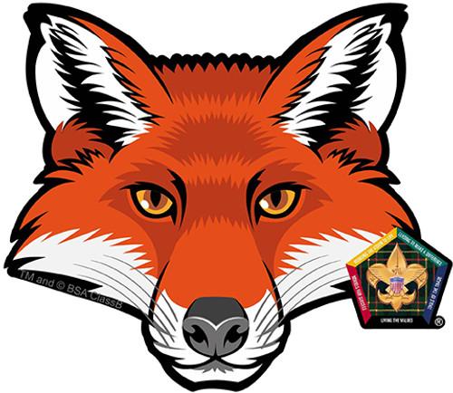 Old Logo Wood Badge Fox Car Window Sticker (SP5396)