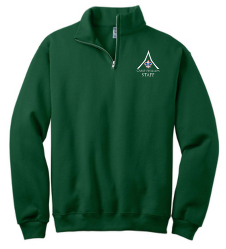 1/4-Zip Cadet Collar Sweatshirt - L.E. Phillips Scout Reservation Staff 2021