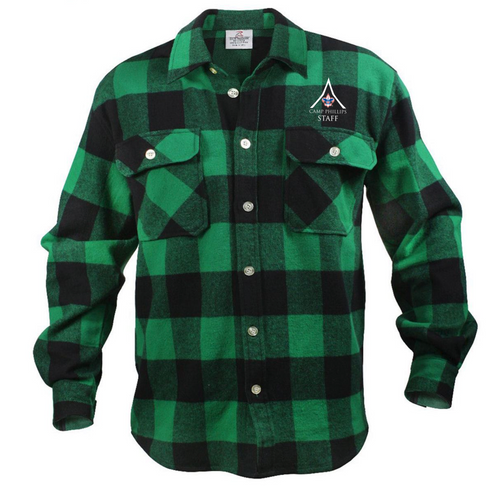 Green Flannel - L.E. Phillips Scout Reservation Staff 2021