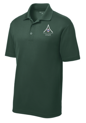 (1) Camp Supplied Sport-Tek Polo - L.E. Phillips Scout Reservation Staff 2021