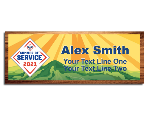 Summer of Service Scout Name Tag