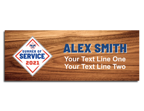 Summer of Service Scout Name Tag with standard logo