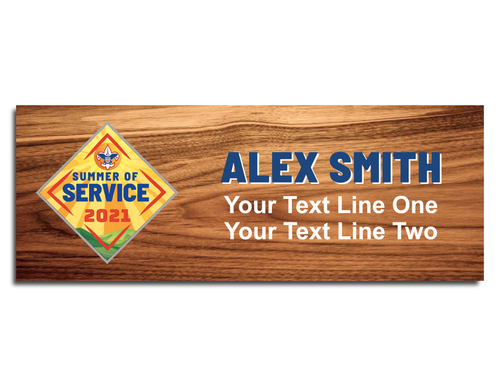 Summer of Service Scout Name Tag with color logo