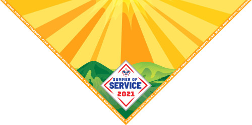Summer of Service Neckerchief - sublimated in full color