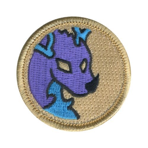 Deer Dragon Patch - embroidered 2 inch round