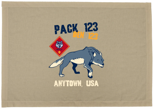 Cub Scout Pack Den Flag with Wolf
