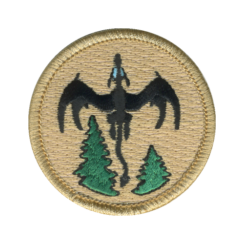 Nature Dragon Patch - embroidered 2 inch round