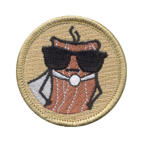 Super Bacon Patch - embroidered 2 inch round