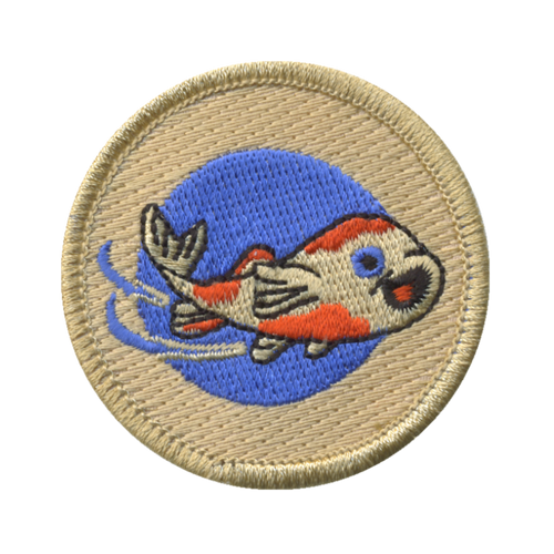 Cosmic Coi Fish Patch - embroidered 2 inch round