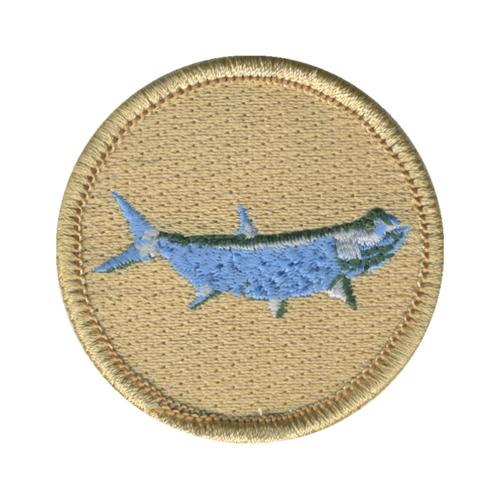 Tarpon Fish Patch - embroidered 2 inch round