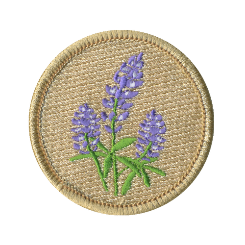 Bluebonnet Flowers Patch - embroidered 2 inch round