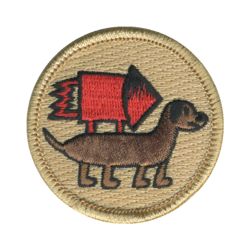Rocket Dog Patch - embroidered 2 inch round
