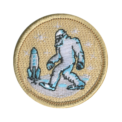 Space Yeti Patch - embroidered 2 inch round