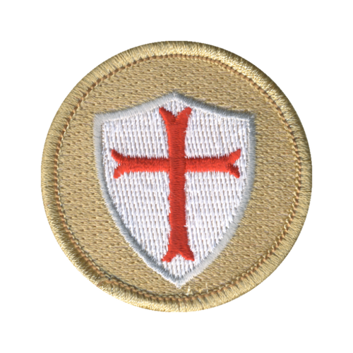 Knight Shield Patch - embroidered 2 inch round
