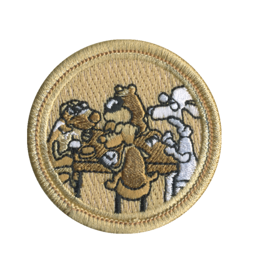 Old Dogs Patch - embroidered 2 inch round