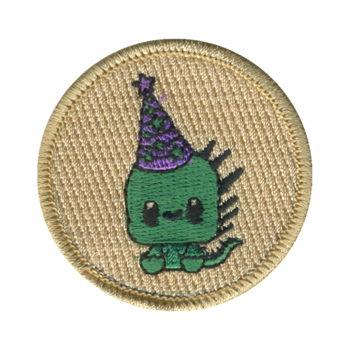 Baby Wizard Lizard Patch - embroidered 2 inch round
