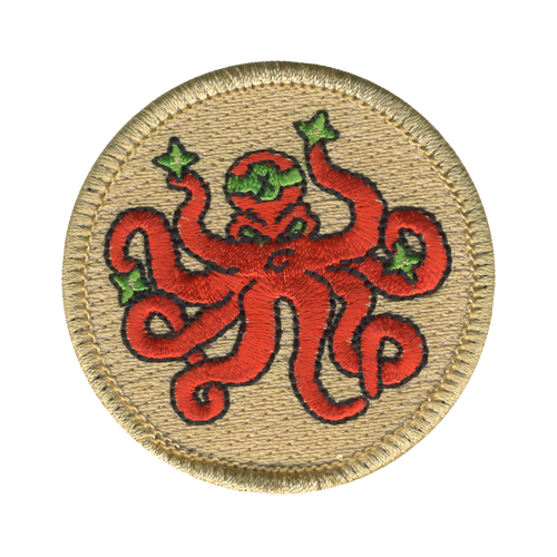Ninja Squid Patch - embroidered 2 inch round