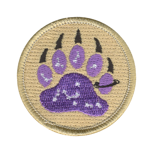 Cosmic Bear Claw Patch - embroidered 2 inch round