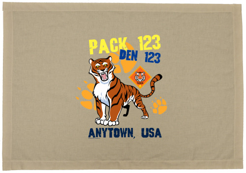 Cub Scout Pack Den Flag with Tiger