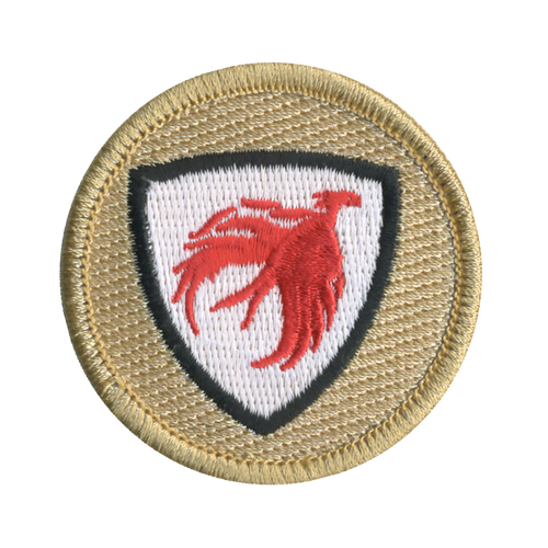 Phoenix Shield Patch - embroidered 2 inch round