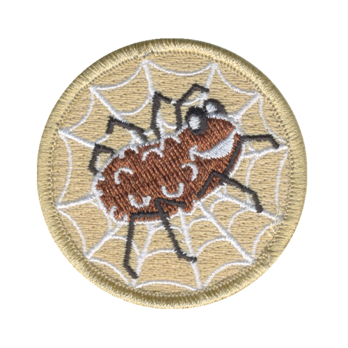Spider Potato Patch - embroidered 2 inch round