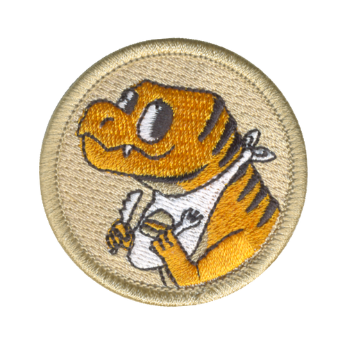 Dining Dinosaur Patch - embroidered 2 inch round