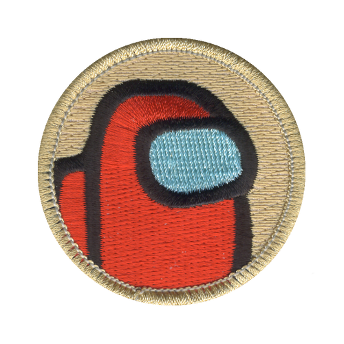 Red Astronaut Patch - embroidered 2 inch round