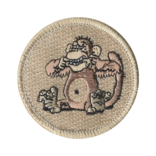 Mad Monkey Patch - embroidered 2 inch round
