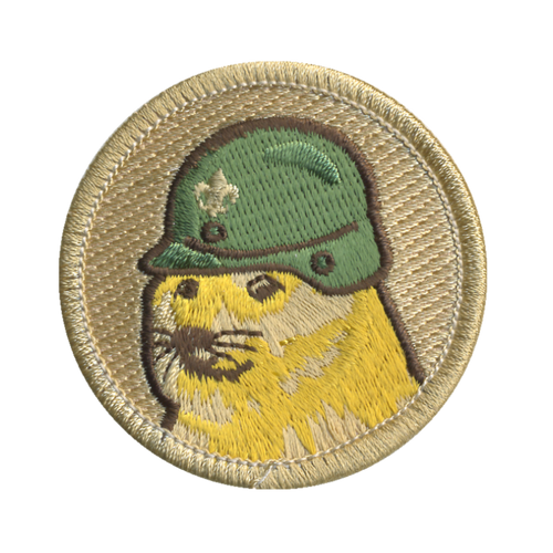 Doge Soldier Patch - embroidered 2 inch round