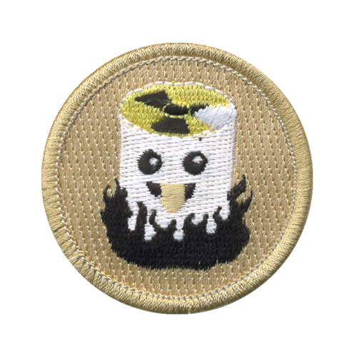 Atomic Marshmallow Patch - embroidered 2 inch round