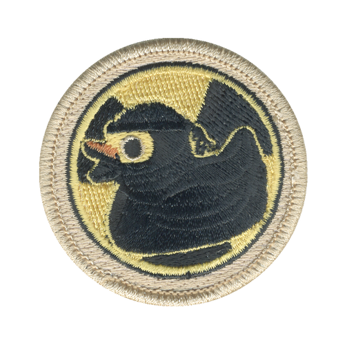 Radioactive Ninja Ducky Patch - embroidered 2 inch round
