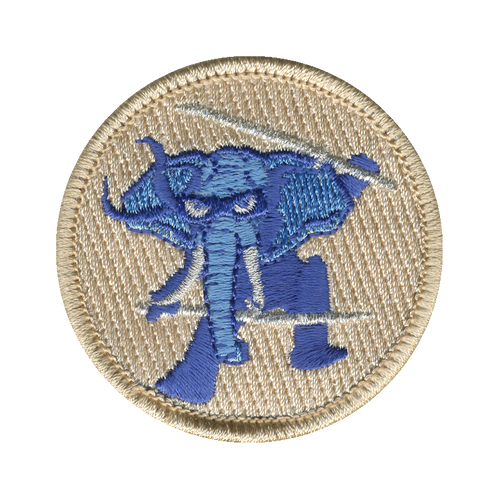 Ninja Elephant Patch - embroidered 2 inch round