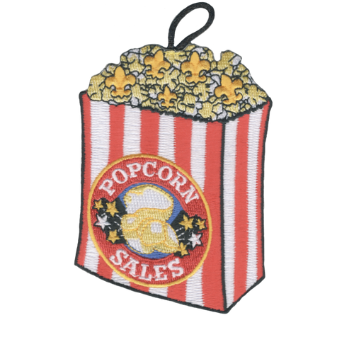 Popcorn Sales Patch - embroidered