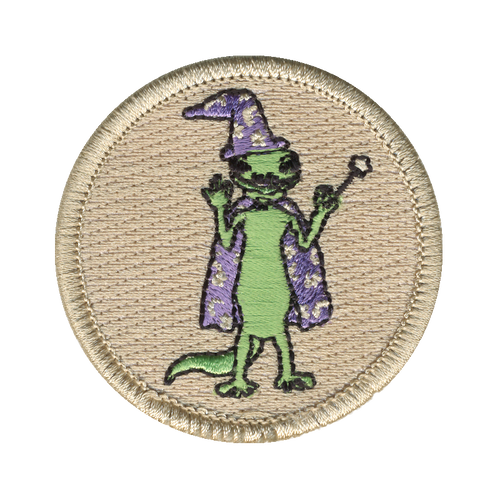 Wizard Lizard Patch - embroidered 2 inch round