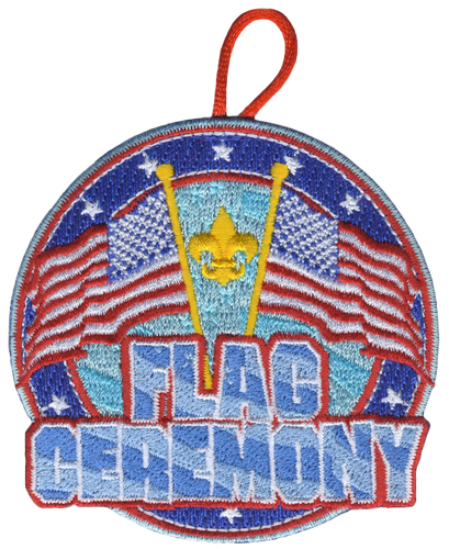 BSA Flag Ceremony Activity Patch with FDL