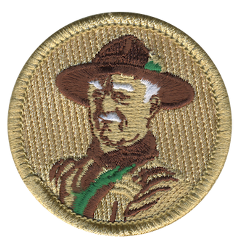 Green Baden Powell Scout Patrol Patch - embroidered 2 inch round