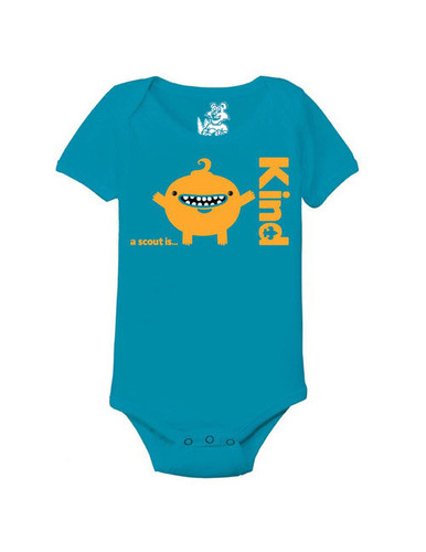 Scouts BSA Baby Onesie with A Scout Is Kind Design