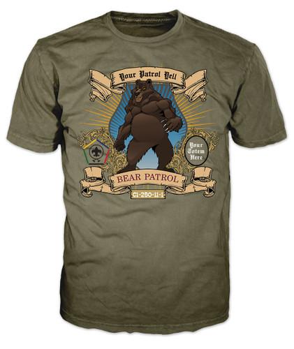 Wood Badge Shirt with Wood Badge Bear Critter and Wood Badge Logo