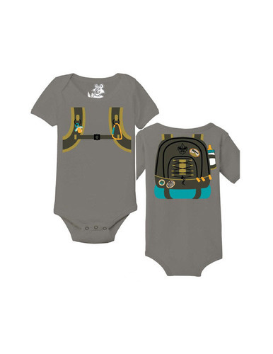 Scouts BSA Baby Onesie with Hiking Backpack Design