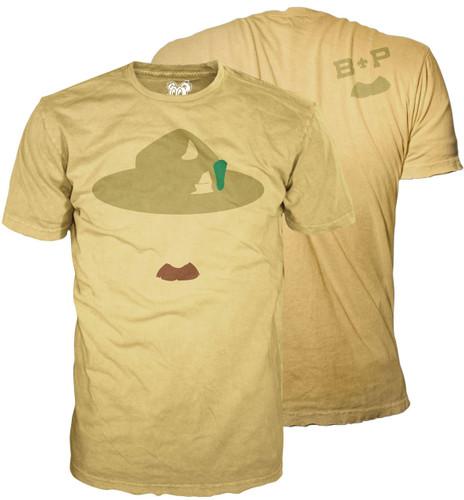 B-P Mustache T-Shirt (SP 4713F/4714B)