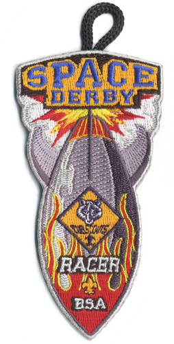 Cub Scout Pack Space Derby Patch with Cub Scout Logo